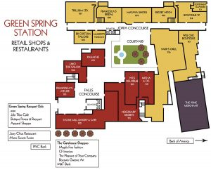 Greenspring Station Retail Map